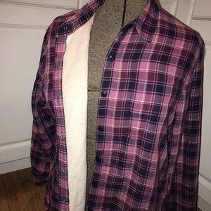 LL Bean Women's fleece lined flannel size L